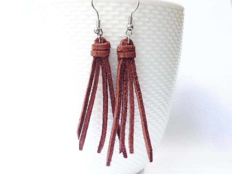 GetHappy Suede Tassel earrings
