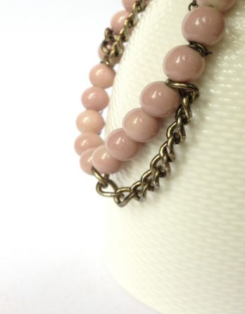 Get Happy Pink Beaded Bracelet